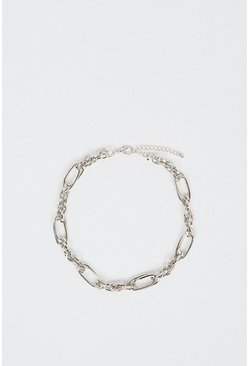 Silver Chunky Chain Statement Necklace