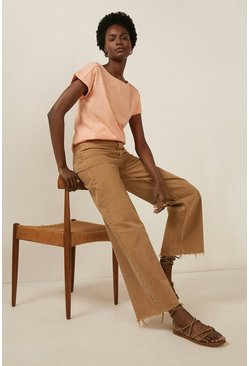 Peach Plain T Shirt