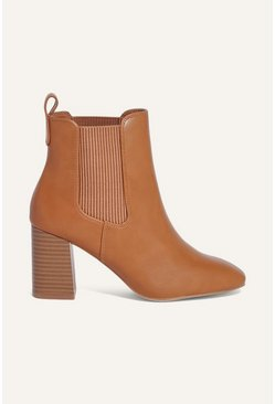 Tan Textured Boot