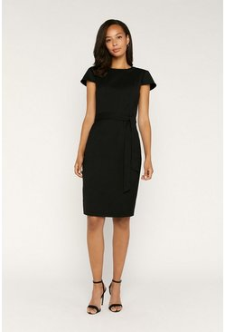Black Tailored Workwear Dress