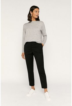 Black Workwear Cigarette Trouser