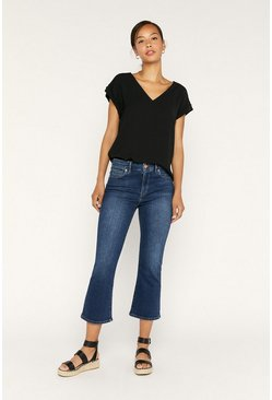 Dark wash Crop Bootcut Jean