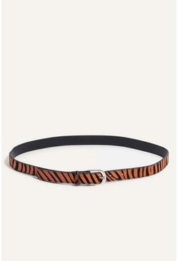 Animal Leather Tiger Belt