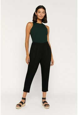 Black Relaxed Peg Trouser