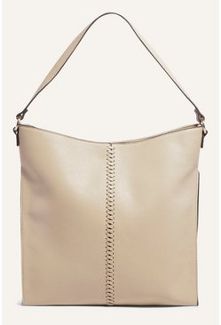 Stone Whipstitch Hobo Bag