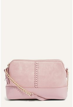 Pale pink Whipstitch Cross Body Bag
