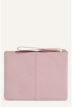 Pale pink Leather Pouch
