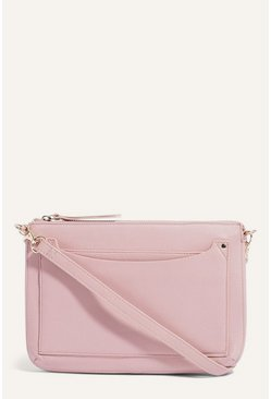 Pale pink Leather Cross Body Bag