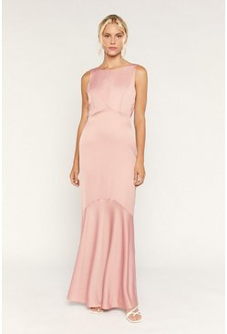 Pale pink High Neck Occasion Dress