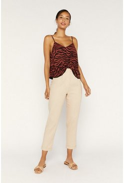 Orange Tiger Knot Cami Top