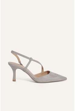 Mid grey Bridesmaids Pointed Slingback Heel