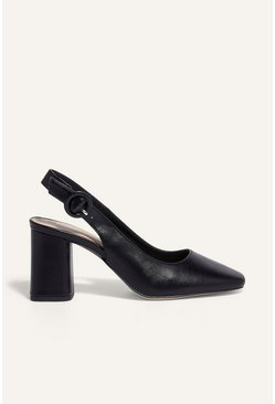 Black Block Heel Shoe