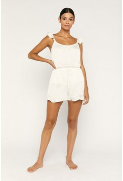Off white Frill Hem Shorts