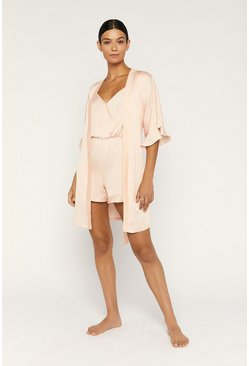 Pale pink Frill Robe