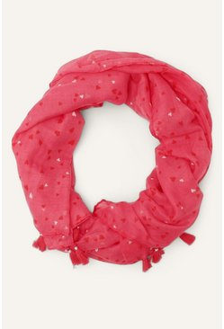 Pink Heart Foil Scarf
