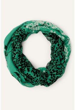 Green Merci Triple Print Scarf