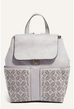 Mid grey Lasercut Backpack