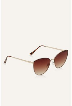 Chocolate Glam Cateye Sunglasses