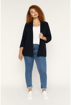 Dark blue Curve Ponte Jacket