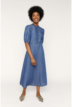 Denim Fashion Midi Dress