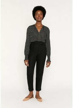 Black Spot Viscose Shirt