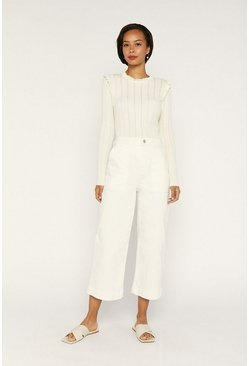 Off white Frill Knit Jumper