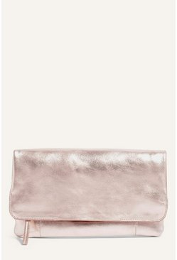 Rose gold Casual Leather Clutch