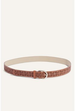 Tan Lasercut Belt