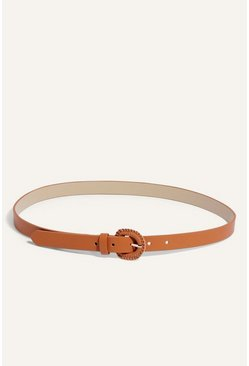 Tan Wrapped Buckle Belt