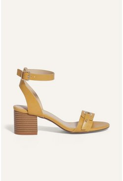 Ochre Stacked Mid Heel Shoe