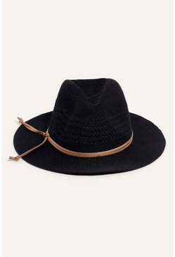 Black Thermo Fedora Summer Hat