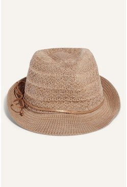 Beige Thermo Trilby Summer Hat