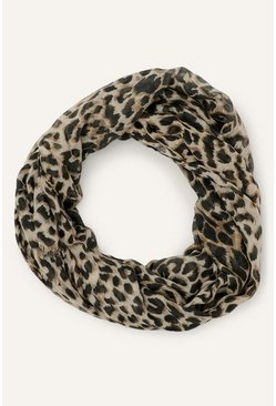 Animal Leopard Two Tone Print Scarf