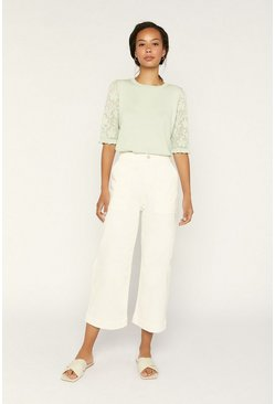 Pale green Frill Knit Jumper