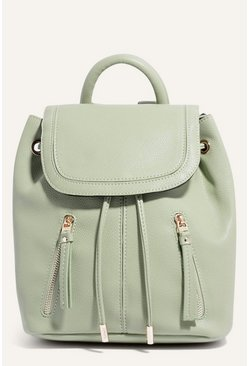 Pale green Small Zip Backpack