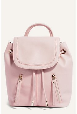 Pale pink Small Zip Backpack