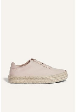 Cream Espadrille Trainer