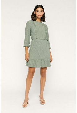 Green Broderie Prarie Dress