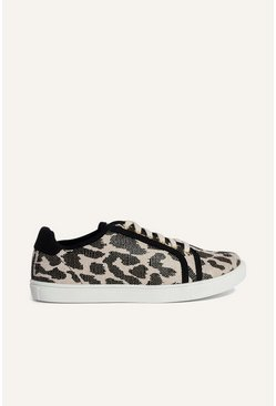 Animal Leopard Canvas Trainer