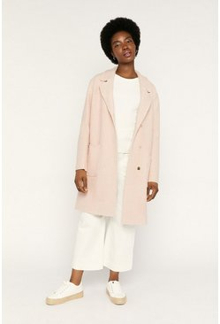 Pale pink Boiled Wool Unlined Jacket