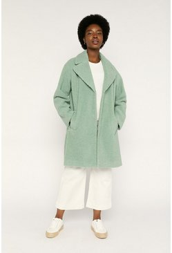 Pale green Sage Green Teddy Coat