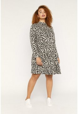 Beige Curve Animal Cosy Dress