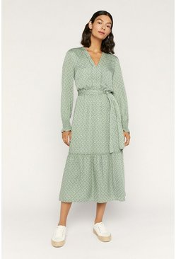 Green Eye Cat Viscose Shirtdress