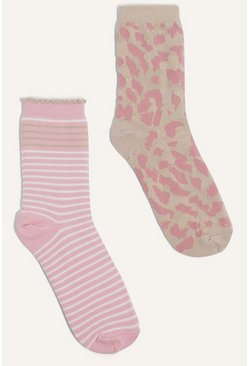 Pink Leopard And Stripe 2 Pack